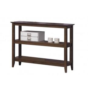 Quadra Low Bookcase - Settler Walnut