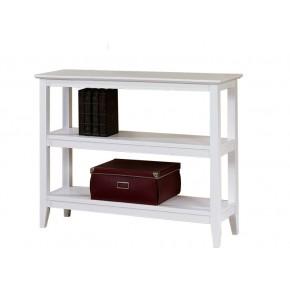 Quadra Low Bookcase - White