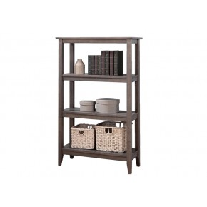 Quadra Tall Bookcase - Grey Washed