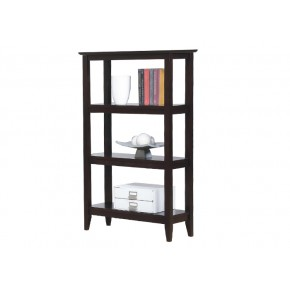 Quadra Tall Bookcase - Halifax Brown