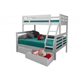Umbreous Super Single over Queen Bunk Bed with 2 Short Drawers