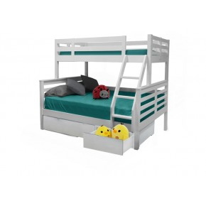 Umbreous Super Single over Queen Bunk Bed with Underbed 3 Drawers