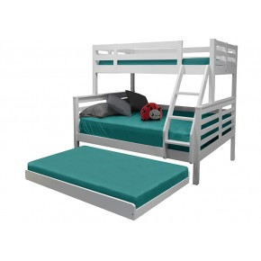 Umbreous Super Single over Queen Bunk Bed with Pull Out Single Bed