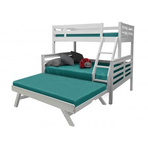 Umbreous Super Single over Queen Bunk Bed with Pull Out Single Raising Bed