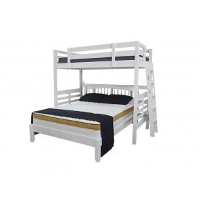 Umbreous Super Single Hi Sleeper with Alaska Queen Bed (White)