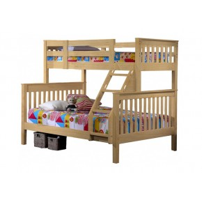 Umbreous Super Single over Queen Bunk Bed Natural