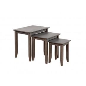 Quadra Nesting Table - Grey Washed