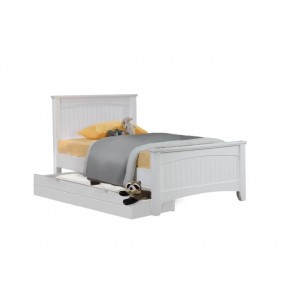 Andee Single Bed Frame with Long Drawer