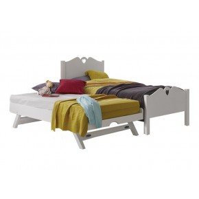 Holly Single Bed Frame with Pull Out Raising Bed