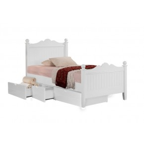 Princess Single Bed Frame with Underbed 3 Drawers