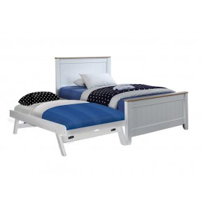 Tyler Single Bed Frame with Pull Out Single Raising Bed