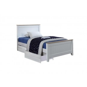 Tyler Super Single Bed Frame with 2 Short Drawers