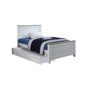 Tyler Super Single Bed Frame with Long Drawer