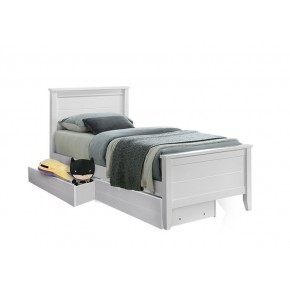Charlie Super Single Bed Frame with 2 Short Drawers