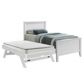 Charlie Super Single Bed Frame with Pull Out Raising Trundle