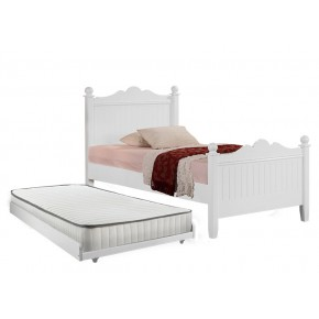 Princess Super Single Bed Frame with Pull Out Bed