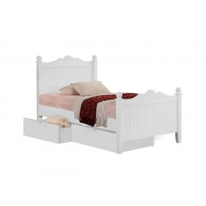 Princess Super Single Bed Frame with 2 Short Drawers