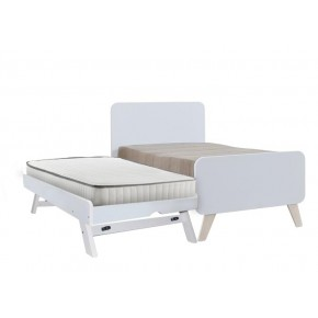Oslo Super Single Bed Frame with Pull Out Single Raising Bed