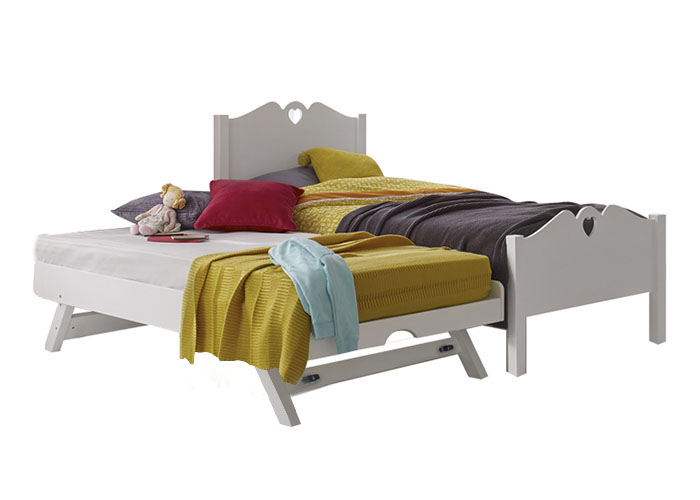 Holly Super Single Bed Frame with Pull Out Raising Bed